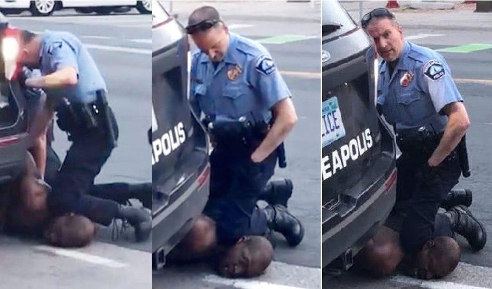 ปลด4ตำรวจจับผิวดำ ใช้เข่ากดพื้นตาย เมินเหยื่อร้องหายใจไม่ออก