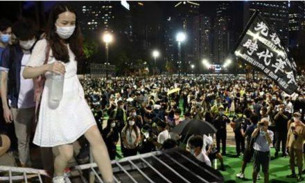 """ฝ่าคำสั่งตำรวจ ฮ่องกงหลายพันคน รำลึก 31 ปี เหตุนองเลือด """"เทียนอันเหมิน"""""""