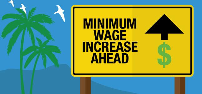 July 1, 2020 เงินเดือนขั้นต่ำจะขึ่นเป็น $15 ต่อชม.ในรัฐแคลิฟอร์เนียดังนี้