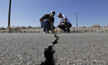 แผ่นดินไหวขนาด 5.5 ใกล้กับเมือง Ridgecrest ซึ่งอยู่ทางใต้ของรัฐแคลิฟอร์เนีย