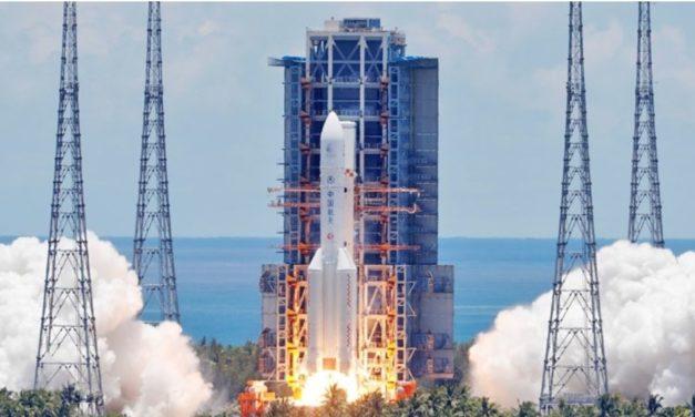 """จรวดส่งยานอวกาศ """"เทียนเหวิน-1"""" แดนมังกร ผงาดสู่ดาวอังคาร-แซงหน้าสหรัฐ"""
