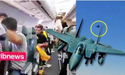 """ระทึกบินอิหร่านดิ่งหลบ """"เอฟ 15"""" ผู้โดยสารกรีดร้อง-บาดเจ็บอื้อ ทัพมะกันแจงแค่ตรวจสอบ"""