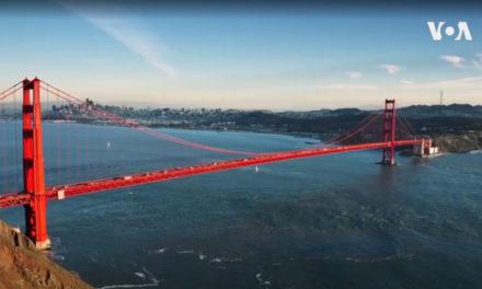 (คลิป) สะพาน 'โกลเดน เกท' สีแดงสดใสทอดยาวข้ามอ่าวตอนเหนือ ที่นครซาน ฟรานซิสโก เกิดปรากฎการณ์พิเศษ