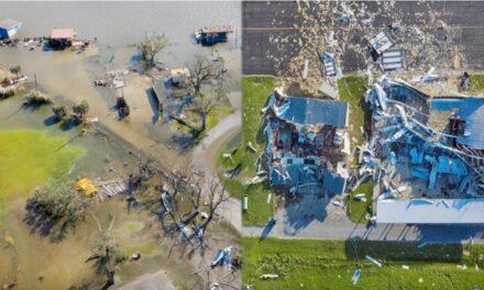 """""""เฮอริเคนลอร่า"""" คร่า 6 ศพ บ้านเกือบล้านหลังไฟดับ-ตึกระฟ้าพังยับ"""