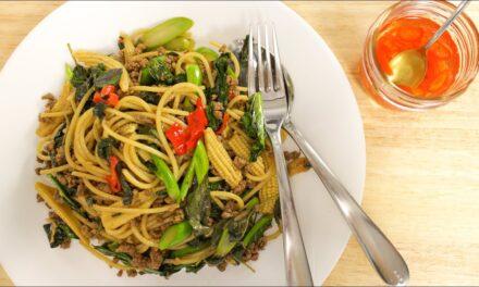 Drunken Spaghetti Recipe (Pad Kee Mao) ผัดขี้เมา