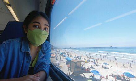 นั่งรถไฟในอเมริกาไปลงทะเล หนีโควิด! | San Clemente แคลิฟอร์เนีย #มอสลา