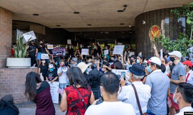 กลุ่มคนไทยในอเมริกาจัดชุมนุมหลายเมืองต่อต้านการใช้ความรุนแรงต่อผู้ประท้วงในประเทศไทย