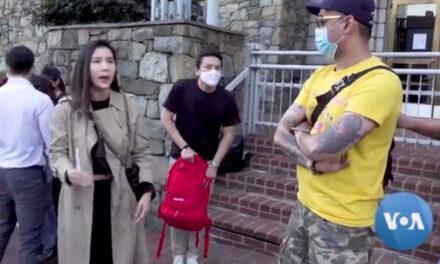 คนไทยในอเมริกาชุมนุมต่อต้านการใช้ความรุนแรง กับกลุ่มผู้ประท้วงในไทย