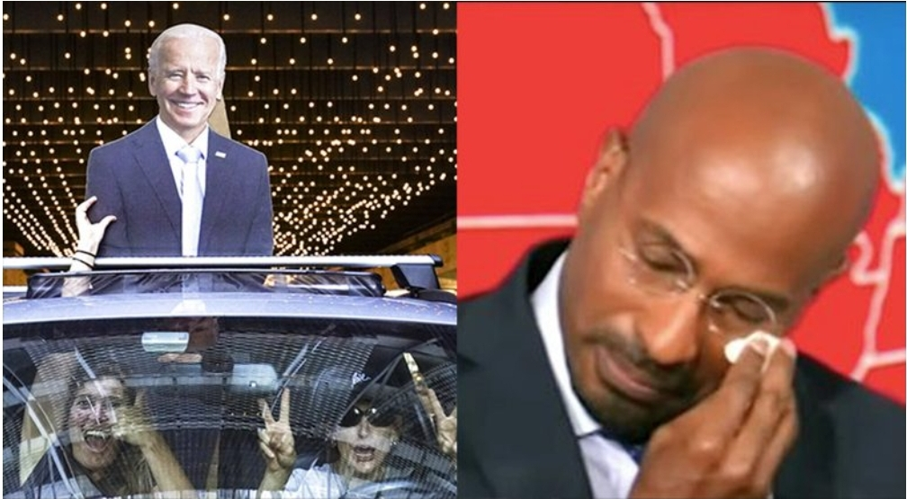 ฉลองทั่วอเมริกา โจ ไบเดน ชนะเลือกตั้ง พิธีกร CNN ตื้นตันร้องไห้