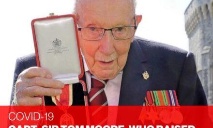 กัปตันเซอร์โธมัส มัวร์ ทหารผ่านศึกชาวอังกฤษวัย 100 ปี