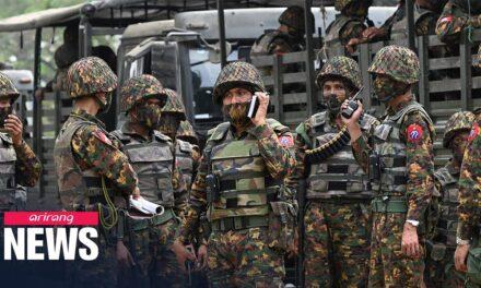 ทหารเมียนมาร์เปิดฉากยิงใส่ผู่ชุมนุมที่ Mandalay รถหุ้มเกราะท่ามกลางการก่อรัฐประหาร