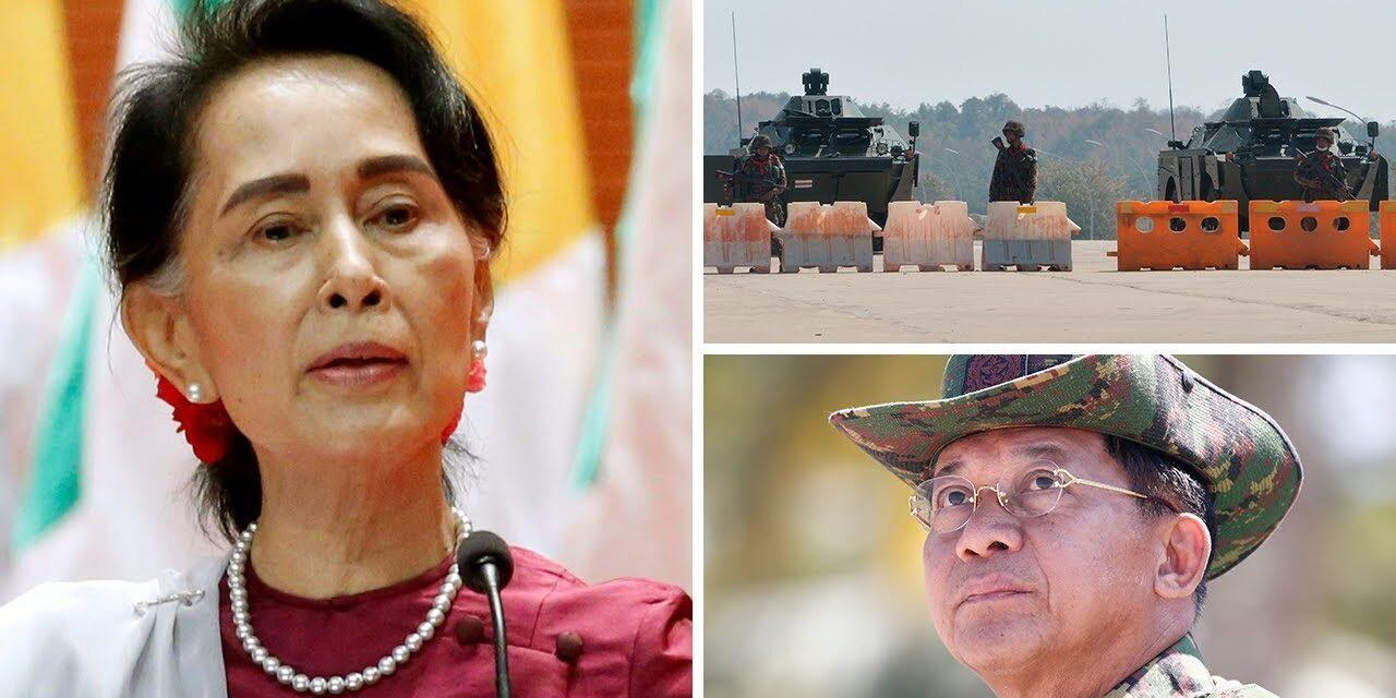 คลิปการปฎิวัตกองทัพทหารพม่า