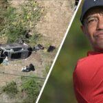 Tiger Woods 'โชคดีที่รอดชีวิต' หลังจากการชนอย่างรุนแรงทำให้เขาได้รับบาดเจ็บที่ขา