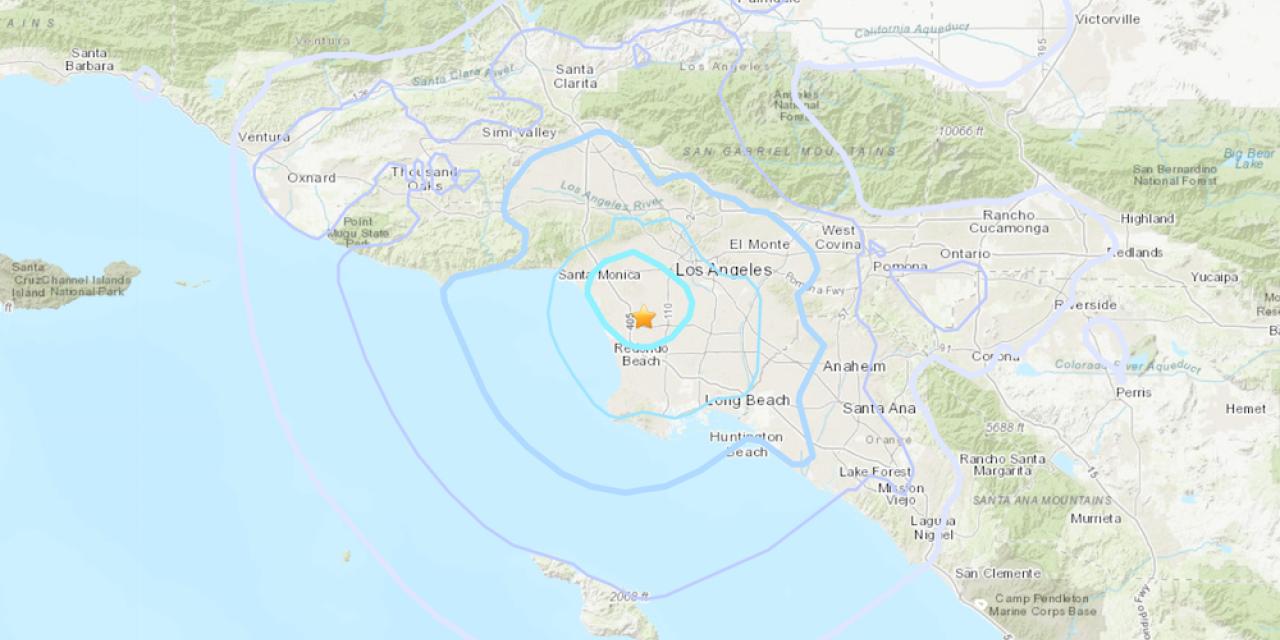 มีรายงานแผ่นดินไหวขนาด -4.0 เมื่อเวลา 04:44 น. วันจันทร์ใกล้เมืองอิงเกิลวูด ไม่ถึงครึ่งชั่วโมงหลังจากที่แผ่นดินไหวขนาดเล็กสองครั้ง