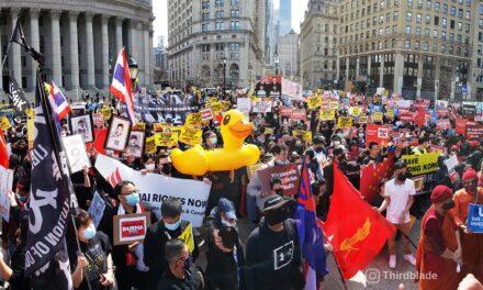 'พันธมิตรชานม' เดินขบวนในกรุงวอชิงตัน: นักกิจกรรมไทยเรียกร้องประชาธิปไตย-ปฏิรูปสถาบันกษัตริย์-ปล่อยตัวนักโทษทางการเมือง