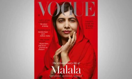 """ฮือฮา! """"มาลาลา ยูซาฟไซ"""" เป็นสาวแล้ว สวมฮิญาบสีแดงสดลงปกนิยสารแฟชั่นโว้กอย่างมั่นใจ"""