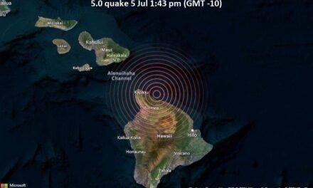 แผ่นดินไหว 5.2 ครั้งบนเกาะใหญ่ของฮาวาย รู้สึกสะเทือนถึงเกาะคาไว